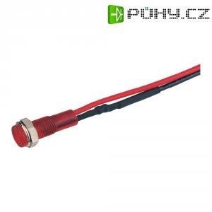 LED signálka, 12 V, červená
