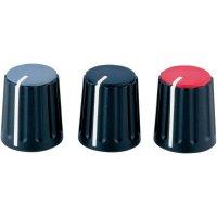 Otočný knoflík Alps 862015, 6 mm, červená, černá