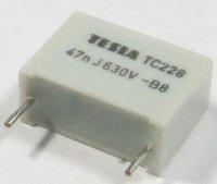 47n/630V TC228, svitkový kondenzátor radiální