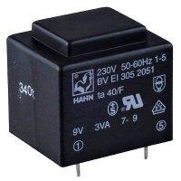 Trafo DPS 2,6VA 1x9V(0,29A) 32,5x27,5x26,8 HAHN