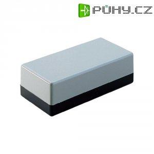 Plastové pouzdro Strapubox, (d x š x v) 129 x 59 x 49 mm, šedá;černá