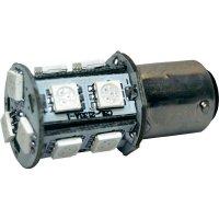 Žárovka Eufab SMD-LED BA15D, 3 W, červená