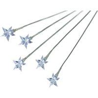 Světelné LED stonky s 5-ti hvězdami, studená bílá, 5 ks