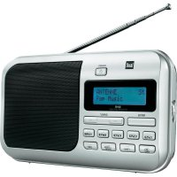 Přenosné DAB+ a FM rádio Dual DAB 4, stříbrná
