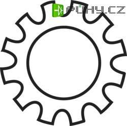 Podložky ozubené TOOLCRAFT 815179, N/A, vnitřní Ø: 5.3 mm, 100 ks