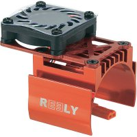 Hliníkový chladič se vsazeným ventilátorem Reely, pro motory 540, červená