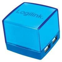 USB 2.0 hub LogiLink, 4-portový, osvětlený, modrý