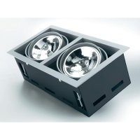 Vestavné svítidlo Sygonix Ancona 34483X AR111, 2x 100 W, G53, stříbrná/šedá