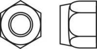 Pojistné matice Toolcraft, M6, pozinkovaná ocel, 10 ks