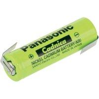Akumulátor NiCd Panasonic AA s pájecími kontakty, 600 mAh