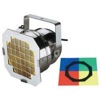 Halogenový reflektor Eurolite PAR 56 Short, 42000826, 300 W, bílá + 4 ks barevných filtrů
