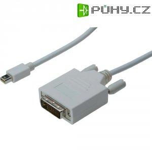 Kabel DVI vidlice ⇔ Mini-DisplayPort vidlice, 3 m, bílý