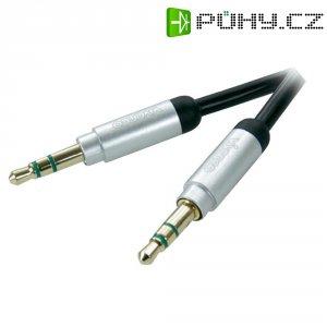 Připojovací kabel Vivanco, jack zástr. 3.5 mm/jack zástr. 3.5 mm, černý, 0,8 m
