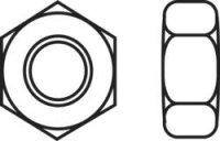 6hranné matice TOOLCRAFT, 830404, M2, DIN 934, 10 ks