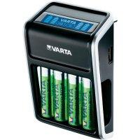 Nabíječka Varta LCD Plug s USB + 4x AA akumulátory NiMH, 2100 mAh