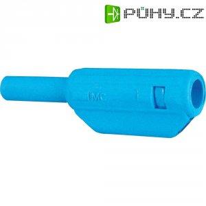 Lamelový konektor Ø 2 mm MultiContact 65.9182-23, zástrčka rovná, modrá