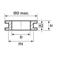 Průchodka HellermannTyton HV1304-PVC-BK-M1, 633-03040, 10,8 x 6,0 mm, černá