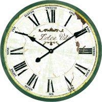 Analogové nástěnné hodiny Techno Line Retro WT 1512, Ø 50 x 5 cm, šedá