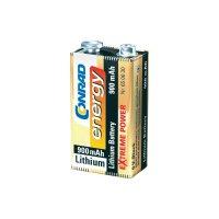 Lithiová baterie Conrad Energy Extreme Power 9V, 900 mAh