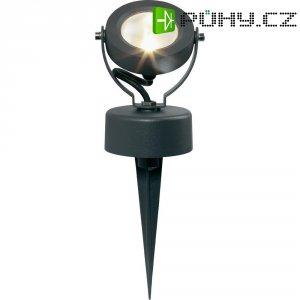 Venkovní LED reflektor renkforce 2681-LED teplá bílá 5 W šedá