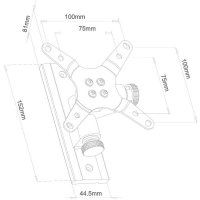 """Držák monitoru Silverstone SST -ARM22SC, 25,4 - 61 cm (10\""""-24\""""), černá"""