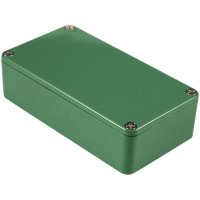 Univerzální pouzdro hliníkové Hammond Electronics, (d x š x v) 111,5 x 59,5 x 31 mm, zelená