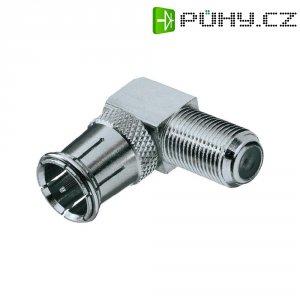 Adaptér BKL Electronic, 0403397, F rychlokonektor ⇔ F zásuvka, úhlový