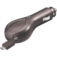 Nabíjecí kabel do autozásuvky Goobay, 42757, 12 V ⇔ 5 V/24 V ⇔ 5 V, 500 mA, samonavíjecí