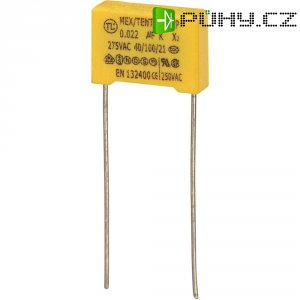 Foliový kondenzátor MKP, 0,047 µF, X2 275 V/AC, 10 %, 12 x 5 x 11 mm
