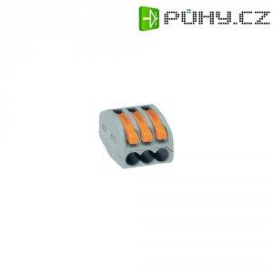 Svorka Wago, 51196507, 0,08 - 2,5/4 mm², 3pólová, šedá/oranžová, 15 kusů