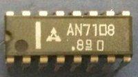 AN7108 - předzesilovač+nf zesilovač pro walkmany, DIP16