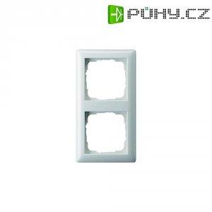 Krycí rámeček Gira 021204, dvojitý, matná bílá