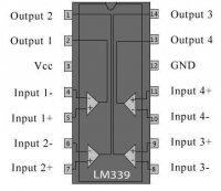 GL339 4x napěť.komparátor DIL14 GoldStar /LM339/