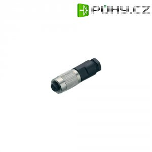 Kulatý konektor submin. Binder 712 (99-0406-00-03), 3pól., kab. zásuvka, 0,25 mm², IP67