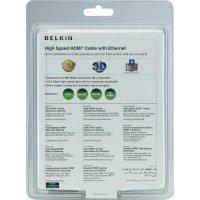 HDMI Belkin High Speed kabel s ethernetem, zlaté kontakty, 2 m, černý