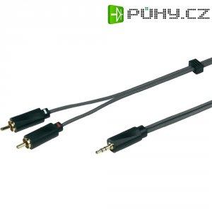 Prodlužovací kabel Sound & Image, jack zástr. 3.5 mm/cinch zástr., šedý/černý, 3 m