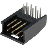 Kolíková lišta MOD II TE Connectivity 280392-1, úhlová, 2,54 mm, 3 A, černá