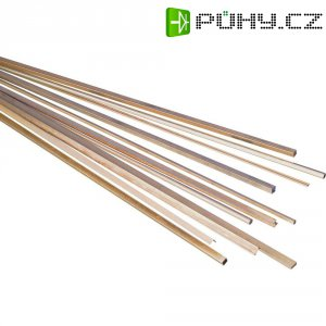Mosazný profil čtyřhranný 200 x 15 x 15 mm