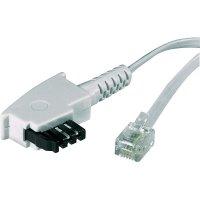 TAE, RJ11 telefonní kabel 922667, 6 m, bílá