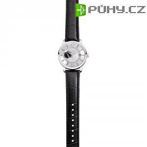 Ručičkové náramkové hodinky Regent Automatik F-723, pánské, kožený pásek