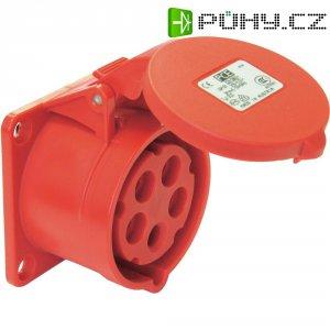 CEE zásuvka 325-6tt PCE, rovná, 32 A, IP44, červená