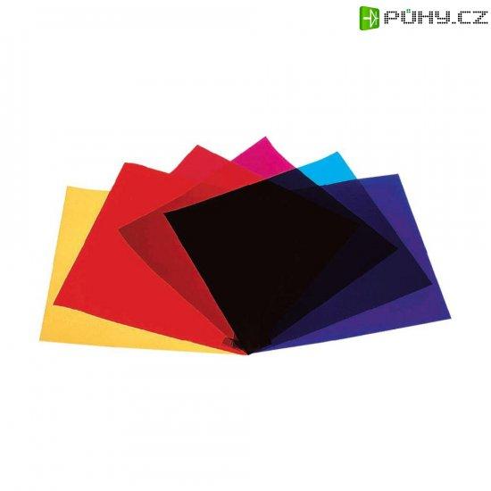 Sada barevných fólií pro žárovky Eurolite PAR 64, 4 ks - Kliknutím na obrázek zavřete