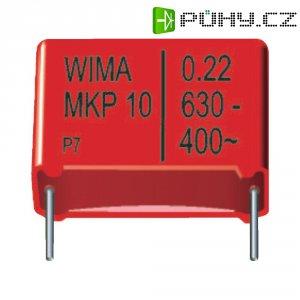 Foliový kondenzátor MKP Wima, 0,22 µF, 630 V, 20 %, 26,5 x 8,5 x 18,5 mm