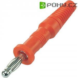 Lamelový konektor Ø 4 mm SCI, zástrčka rovná, červená