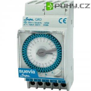 Spínací hodiny na DIN lištu Suevia Supra QRD, 230 V/AC