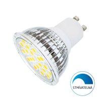 Žárovka LED GU10/230V 24SMD 4,5W - bílá teplá stmívatelná