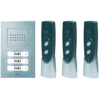 Bezdrátový domácí telefon m-e ADF-630, 3 rodiny, 200 m, stříbrná/antracit