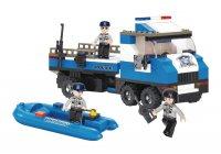 Stavebnice SLUBAN POLICE POLICEJNÍ NÁKLAĎÁK SE ČLUNEM M38-B0186