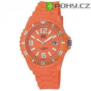 Ručičkové náramkové hodinky Carlton Quartz, silikonový pásek, oranžová