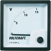 Analogové panelové měřidlo VOLTCRAFT AM-72x72/15V 15 V